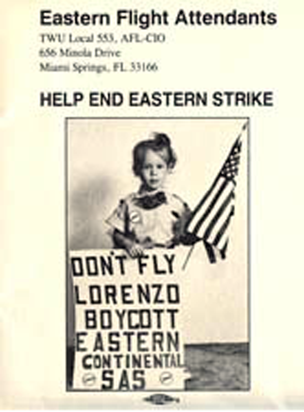 TWU local 553 vs. Eastern Airlines:1989